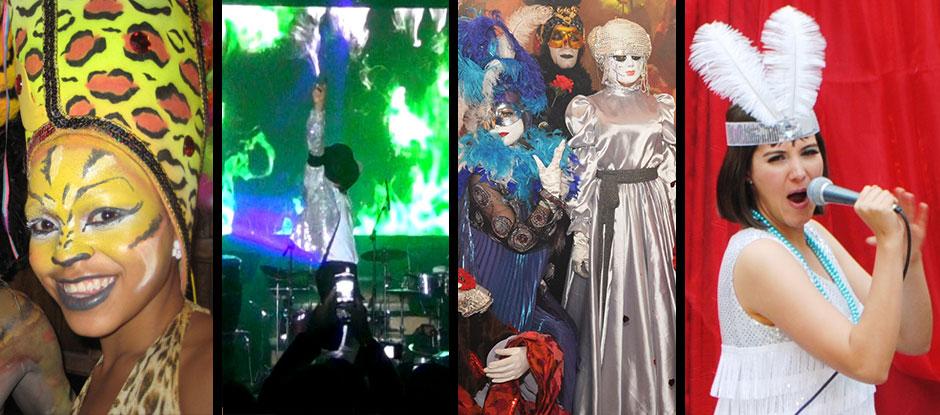 Shows hora loca para bodas, 15 años y eventos corporativos <br>Show carnaval de Barranquilla, Años 60, Años 80, Música Disco,<br>Show Folclórico Colombiano, Charleston, Show Carnaval de Venecia,<br>Carnaval de Río, entre otros
